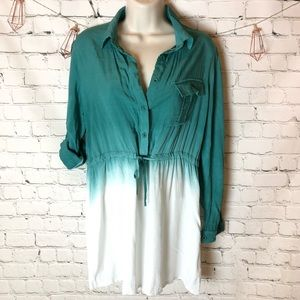 Tops - Ombré button detail tunic with drawstring waist